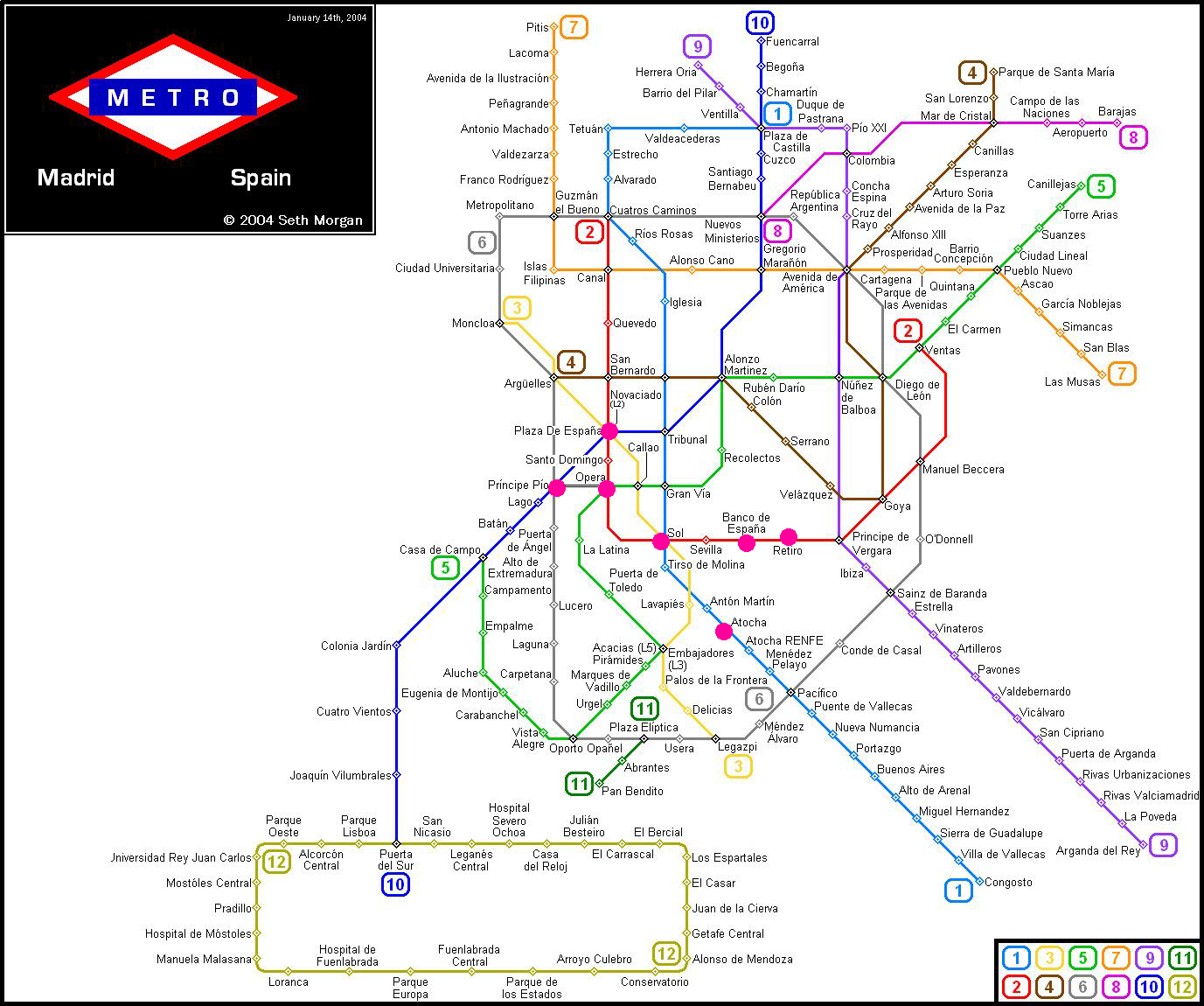 Madrid Metro Map The College Girl S Guide To Study Abroad