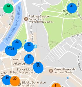 Map of Bilbao 2